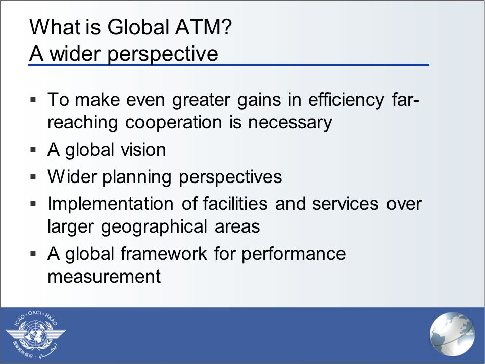 What is Global ATM A wider perspective