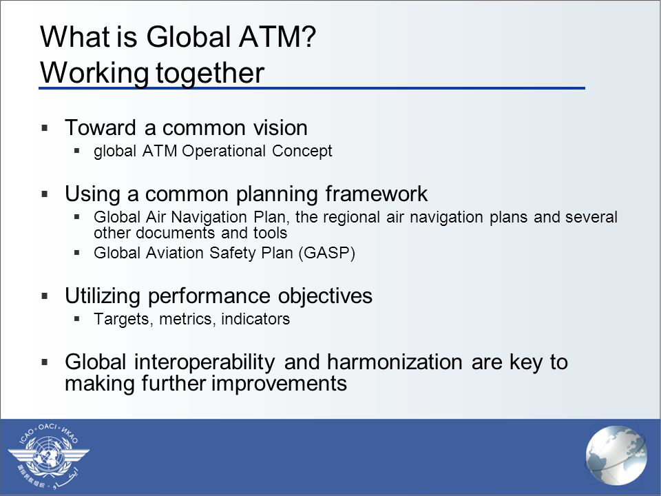 What is Global ATM Working together