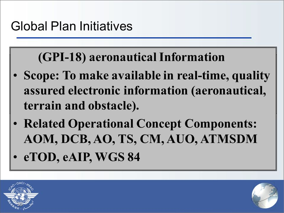 Global Plan Initiatives
