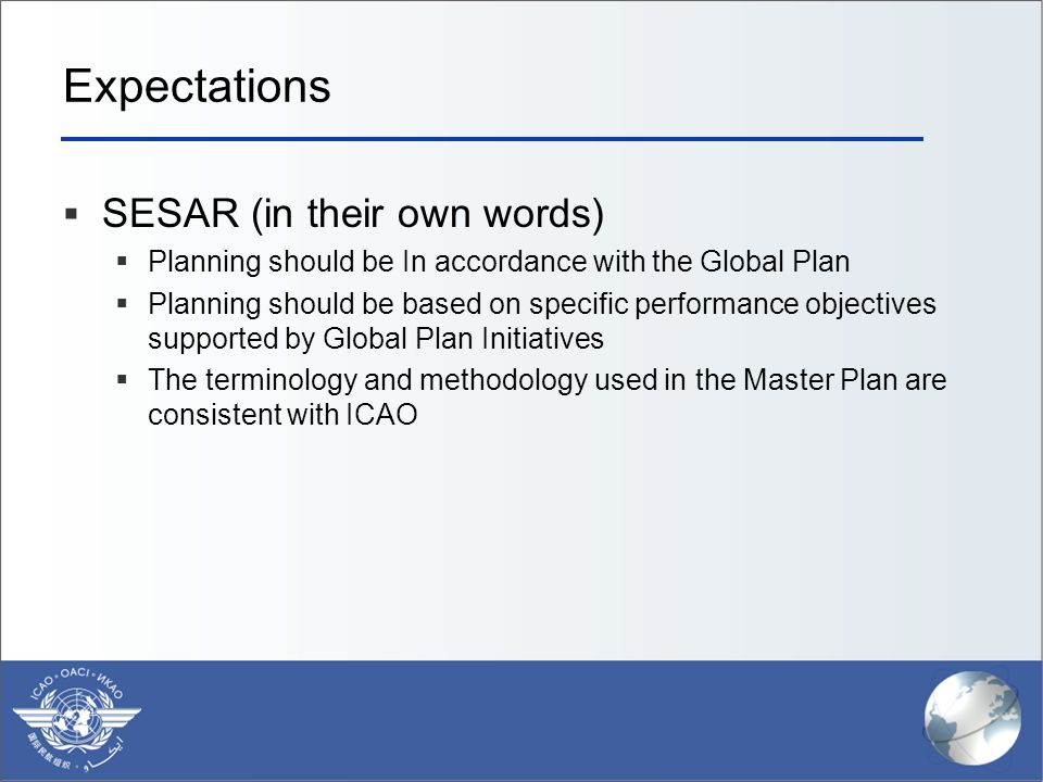 Expectations SESAR (in their own words)