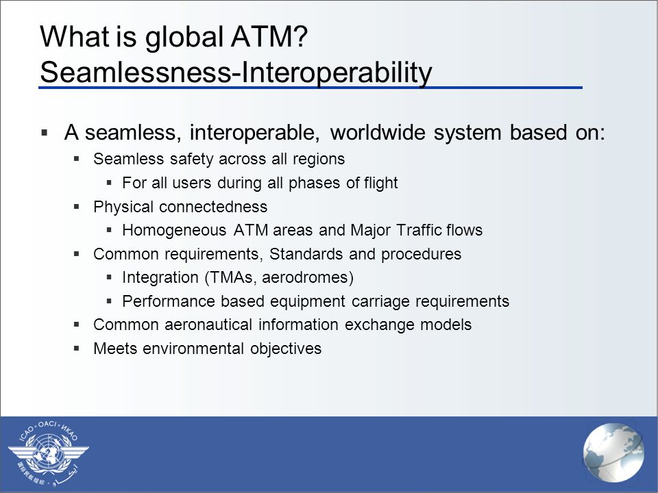 What is global ATM Seamlessness-Interoperability