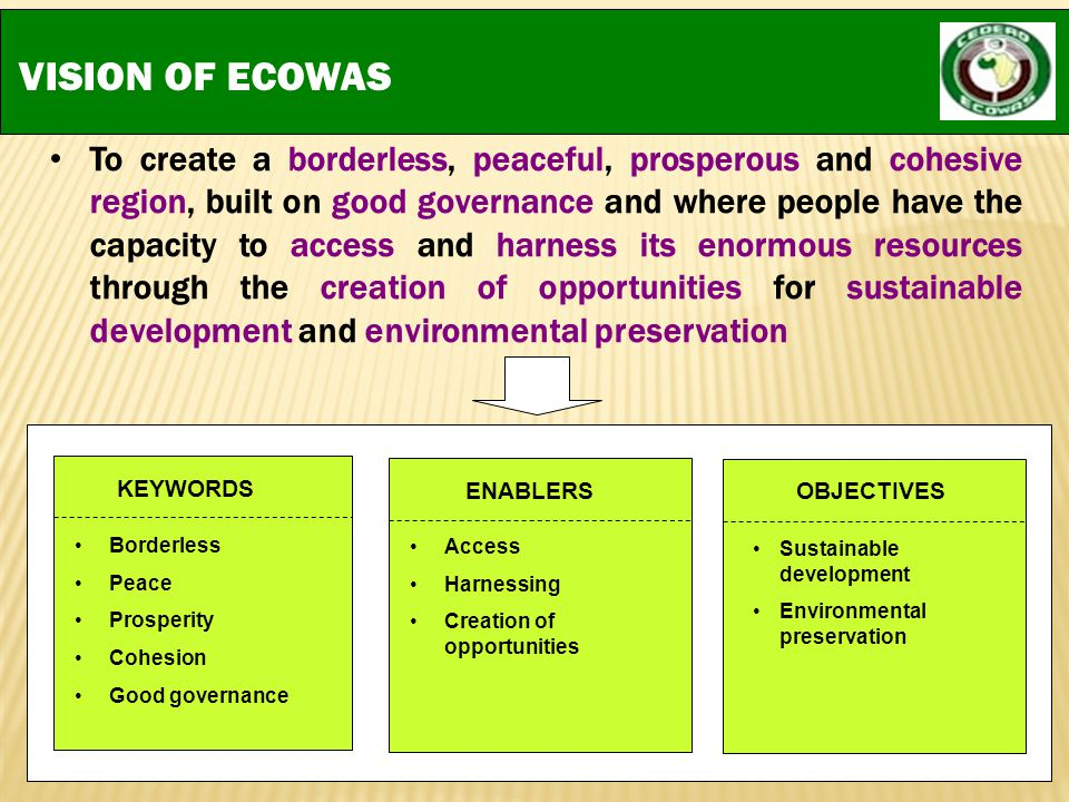VISION OF ECOWAS