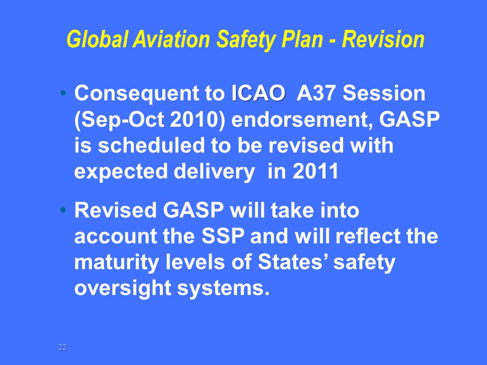 Global Aviation Safety Plan - Revision