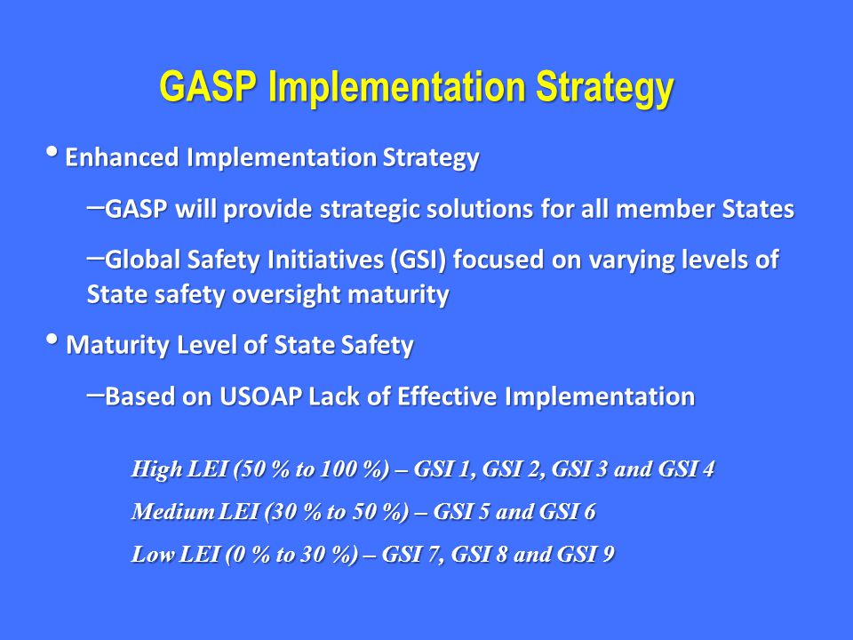 GASP Implementation Strategy