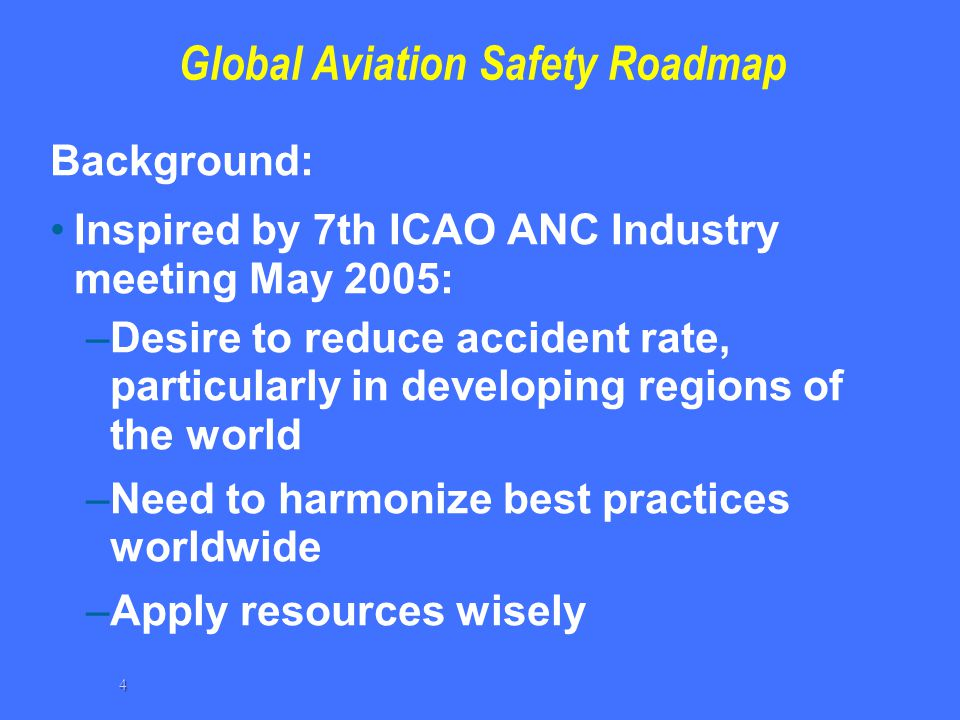 Global Aviation Safety Roadmap