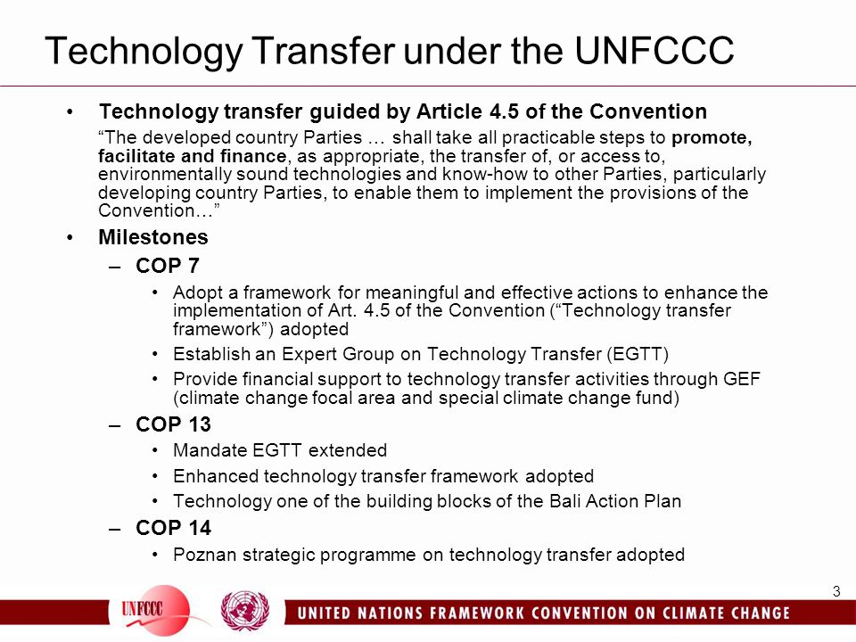 Technology Transfer under the UNFCCC