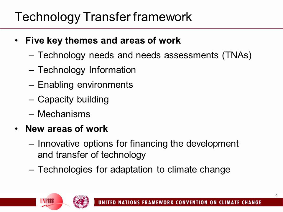 Technology Transfer framework