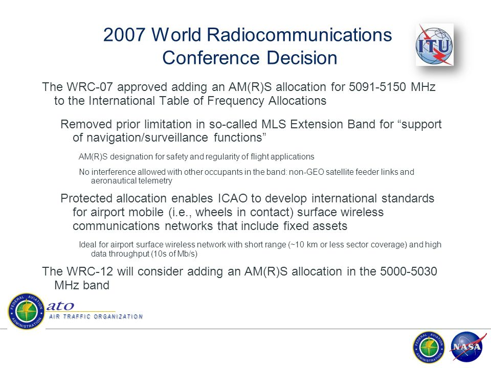 2007 World Radiocommunications Conference Decision
