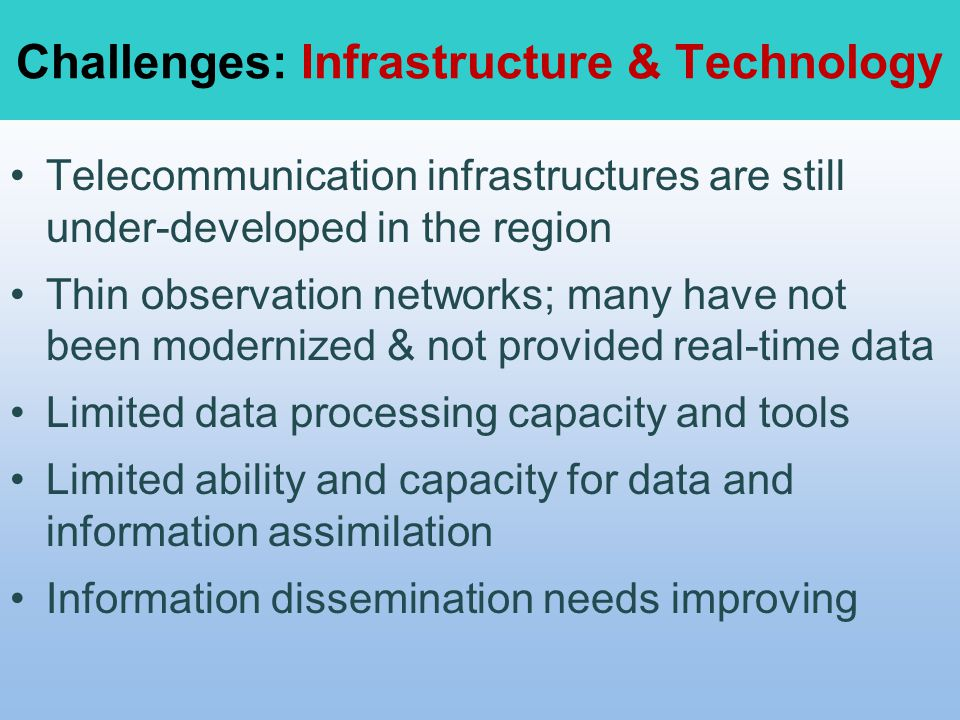 Challenges: Infrastructure & Technology