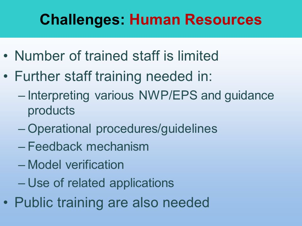 Challenges: Human Resources