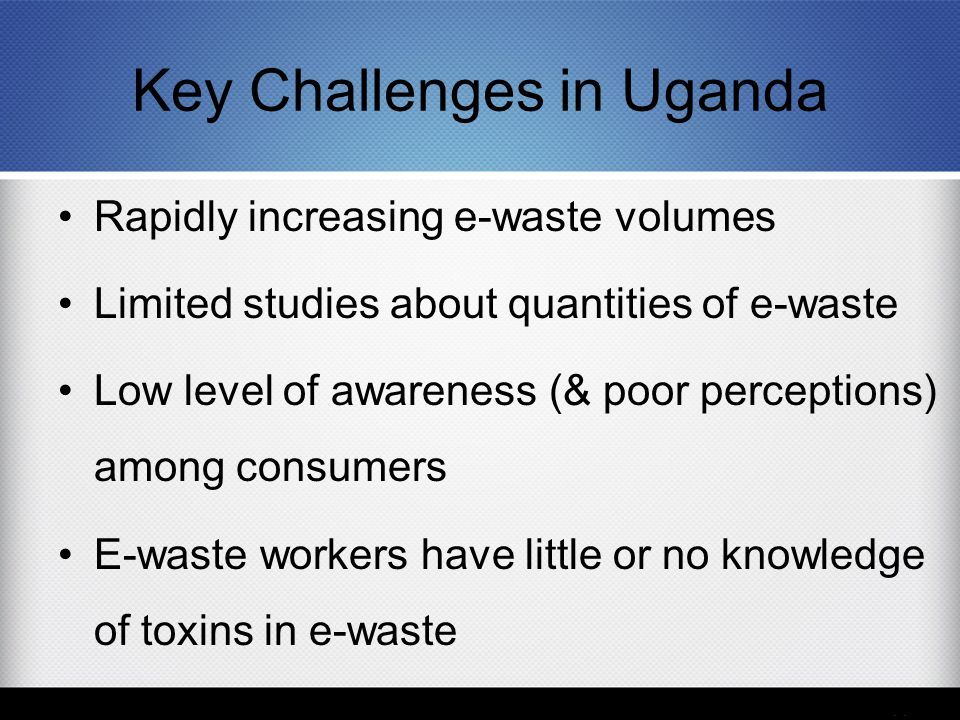 Key Challenges in Uganda