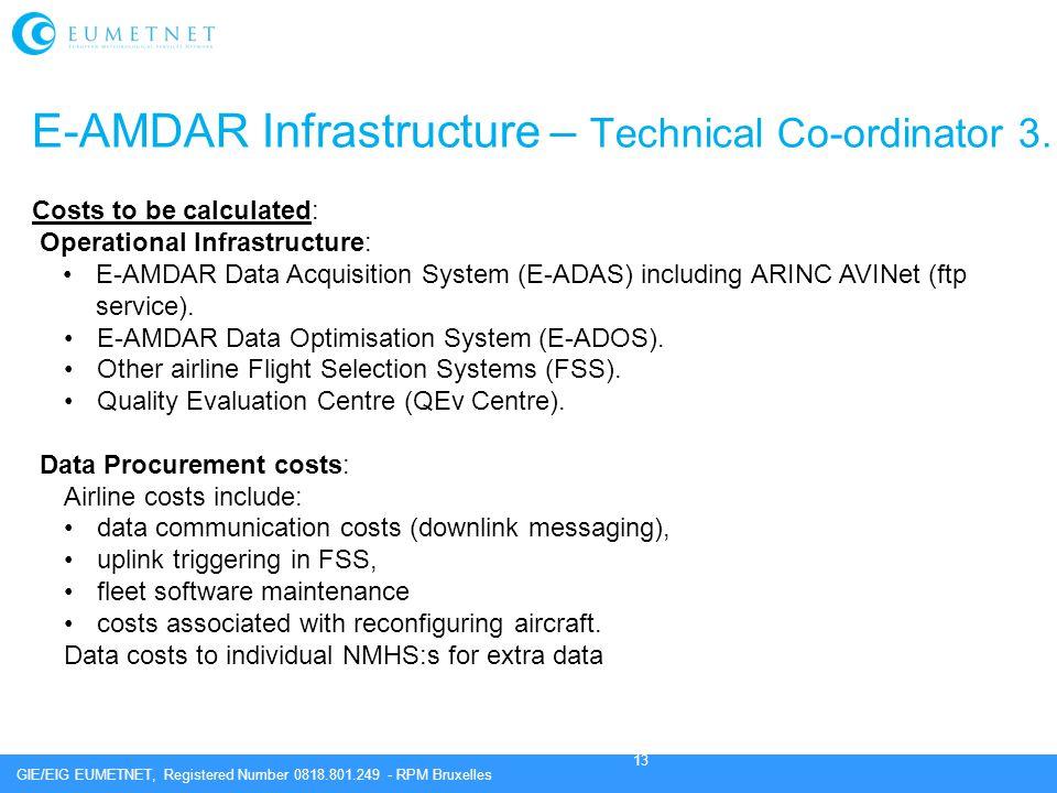 E-AMDAR Infrastructure – Technical Co-ordinator 3.