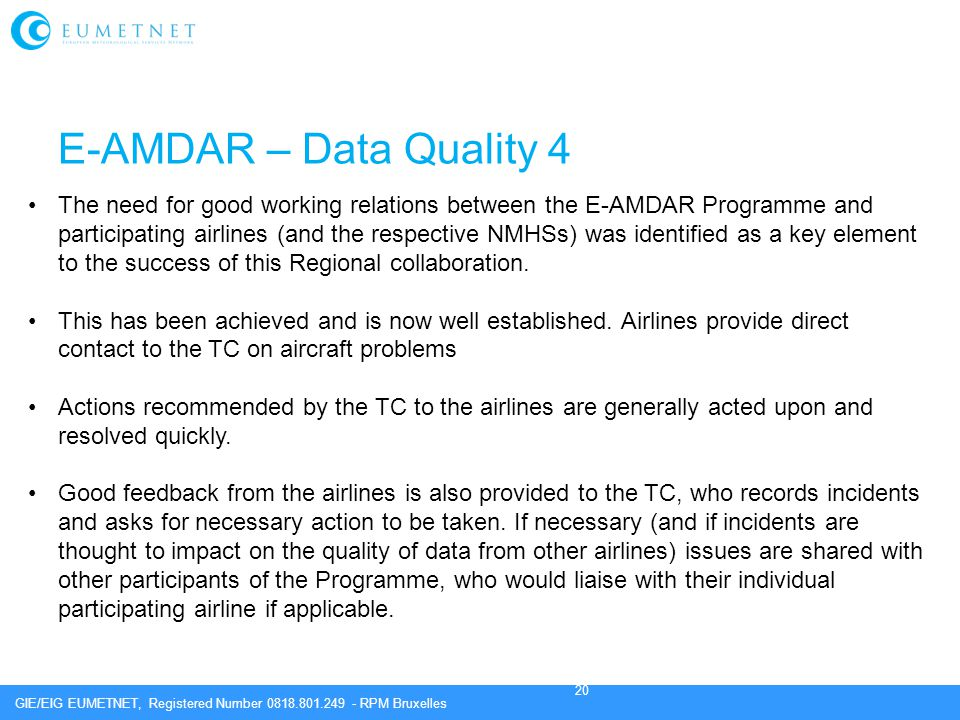 E-AMDAR – Data Quality 4