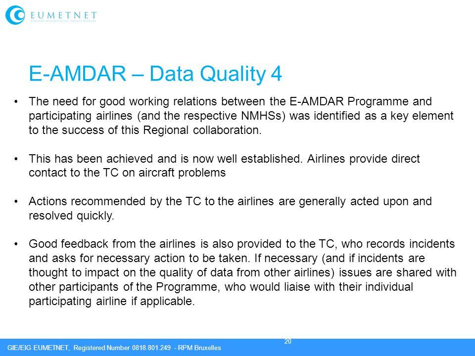 E-AMDAR – Data Quality 4