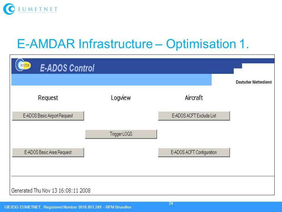 E-AMDAR Infrastructure – Optimisation 1.