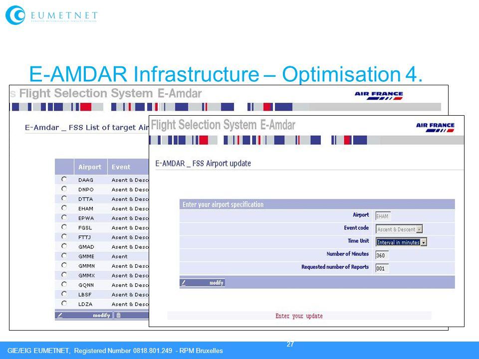E-AMDAR Infrastructure – Optimisation 4.