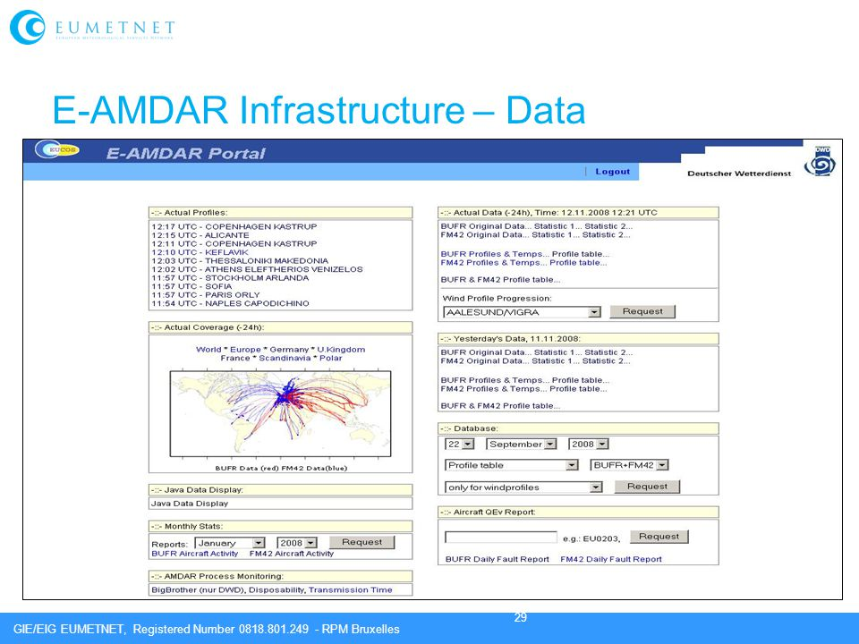 E-AMDAR Infrastructure – Data Visualisation 1.