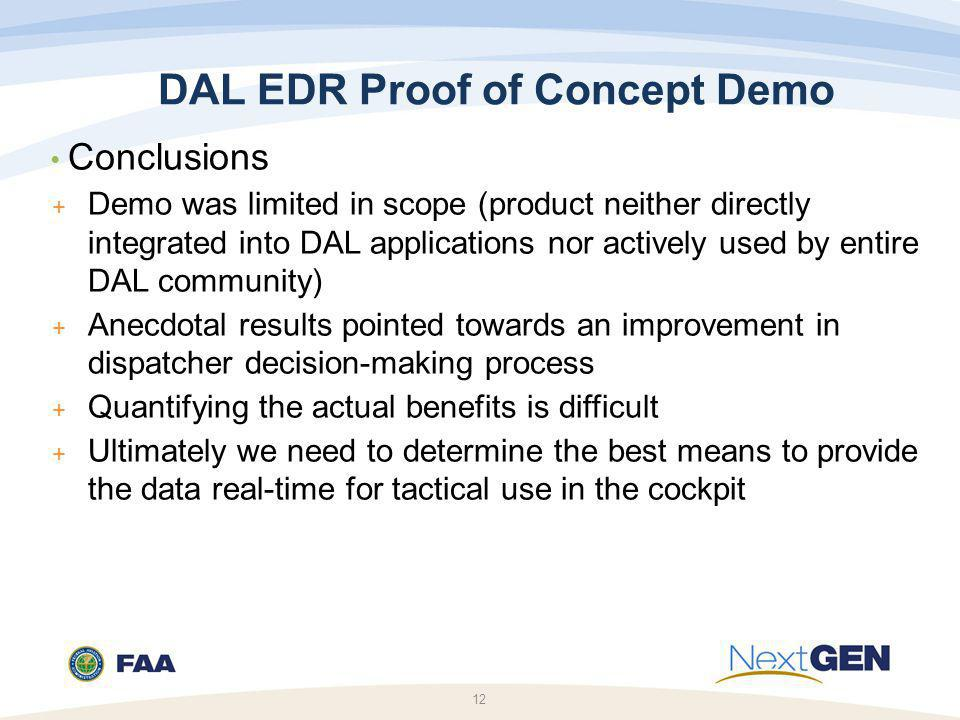 DAL EDR Proof of Concept Demo