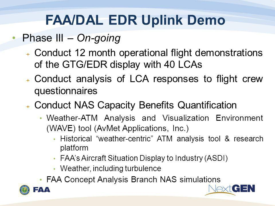 FAA/DAL EDR Uplink Demo