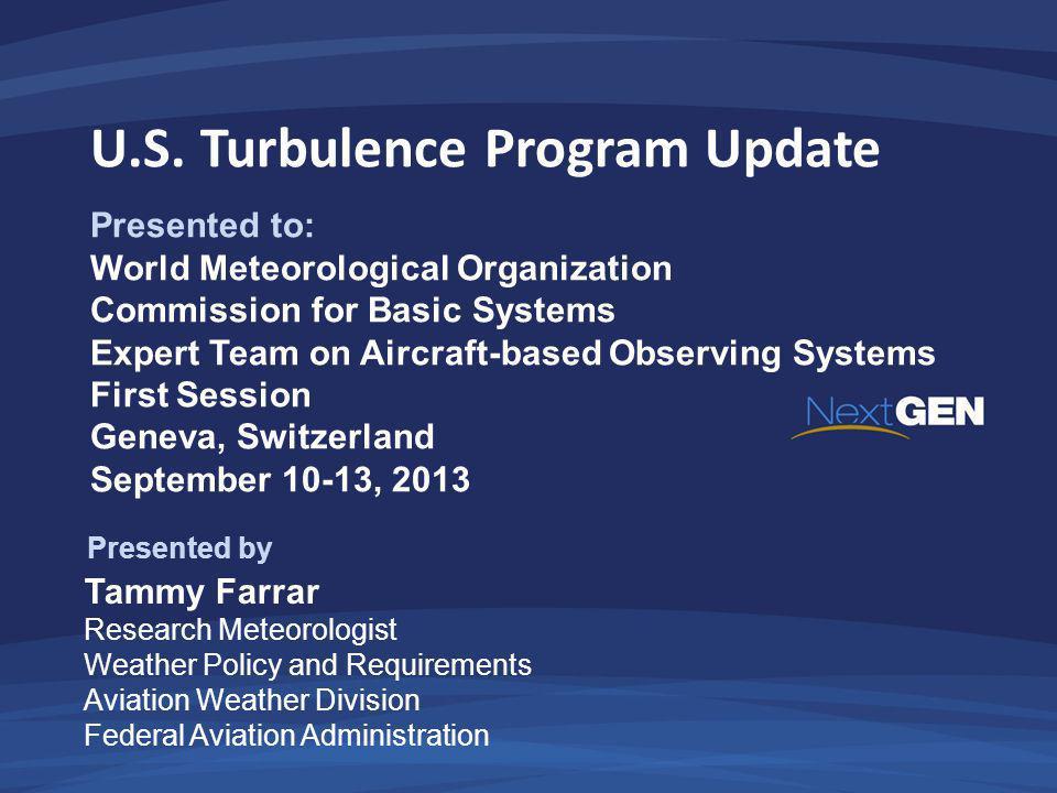 U.S. Turbulence Program Update
