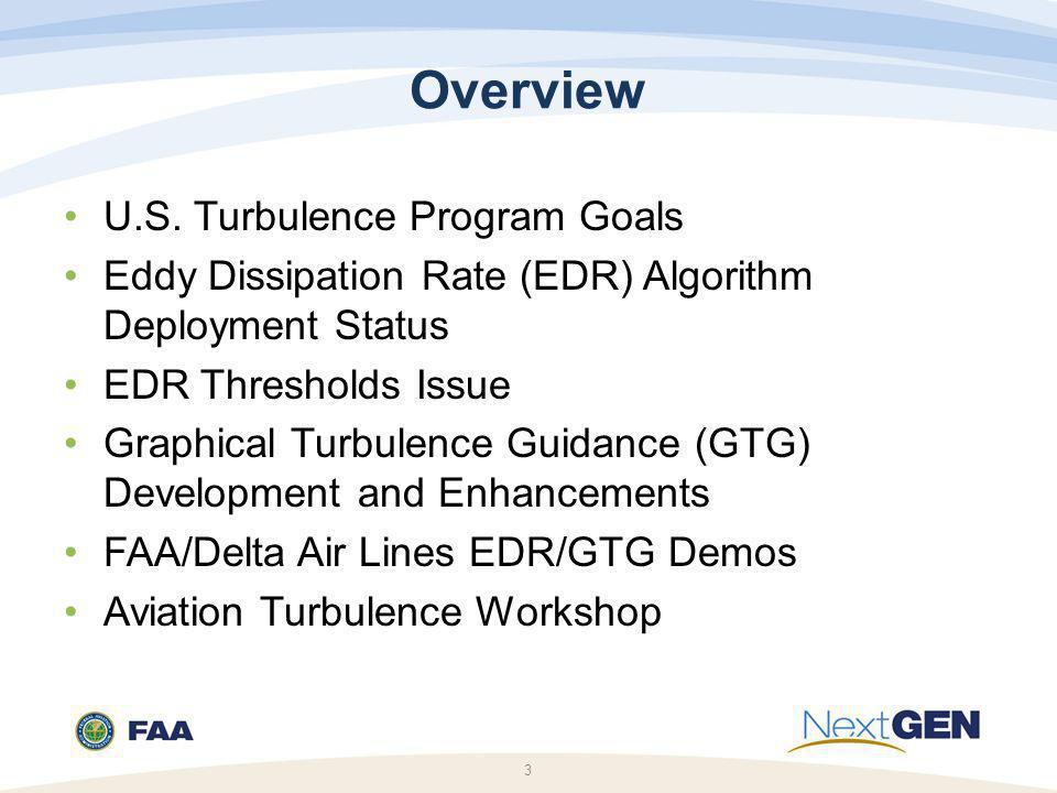 Overview U.S. Turbulence Program Goals
