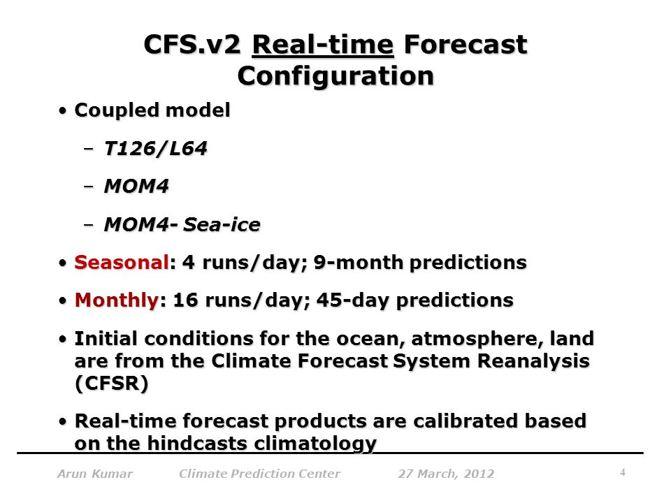 CFS.v2 Real-time Forecast Configuration