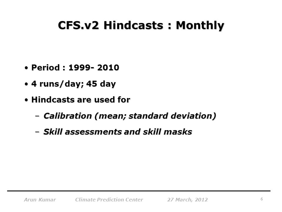 CFS.v2 Hindcasts : Monthly