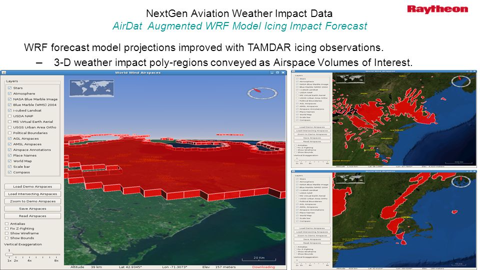 Presentation Title April 6, NextGen Aviation Weather Impact Data AirDat Augmented WRF Model Icing Impact Forecast.