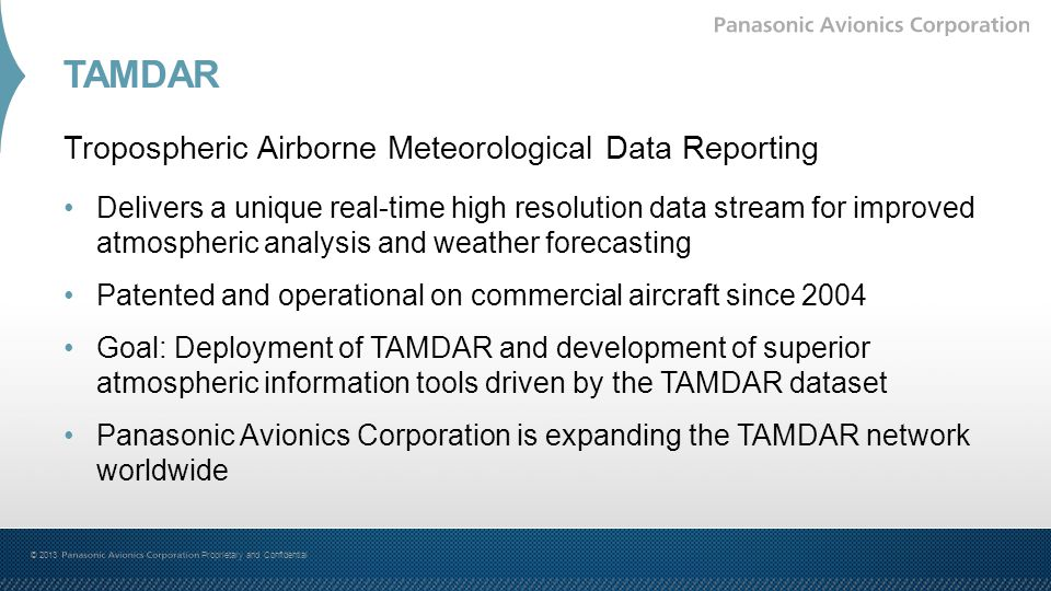 TAMDAR Tropospheric Airborne Meteorological Data Reporting