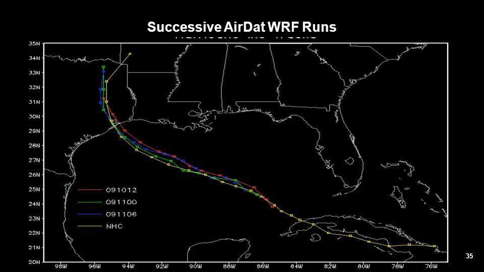 Successive AirDat WRF Runs