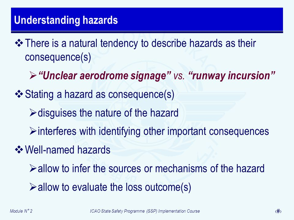 Understanding hazards