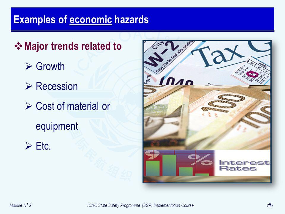 Examples of economic hazards