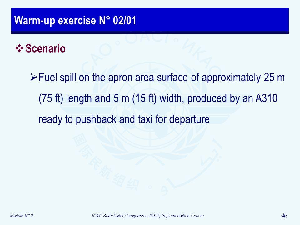 Warm-up exercise N° 02/01 Scenario