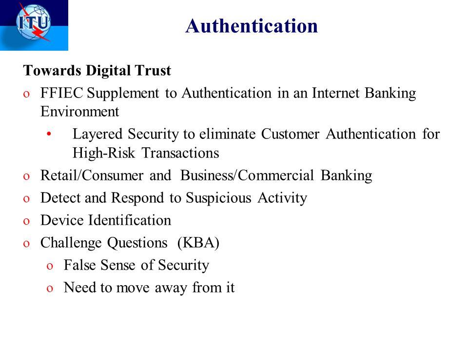 Authentication Towards Digital Trust
