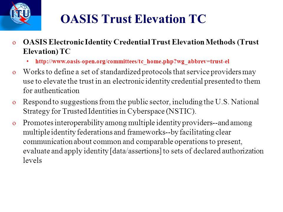 OASIS Trust Elevation TC