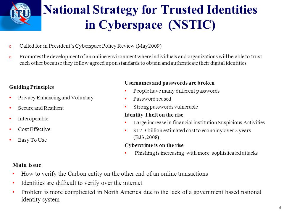 National Strategy for Trusted Identities in Cyberspace (NSTIC)