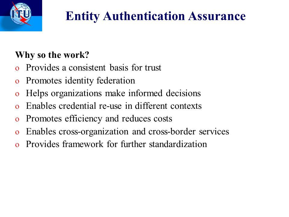 Entity Authentication Assurance