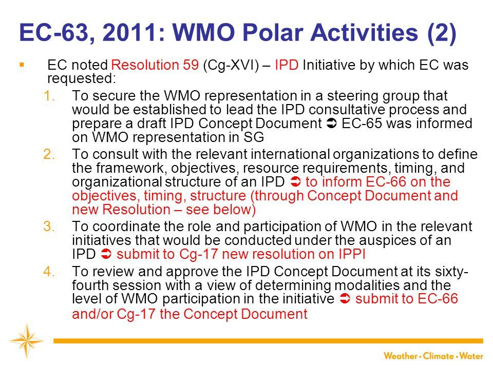 EC-63, 2011: WMO Polar Activities (2)