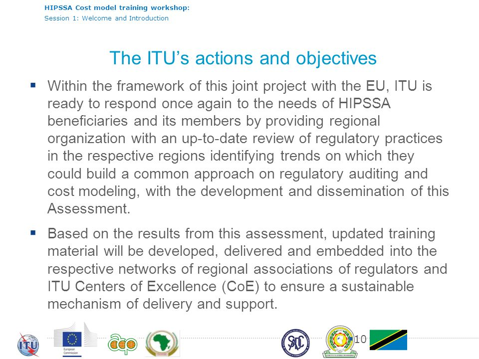 The ITU's actions and objectives