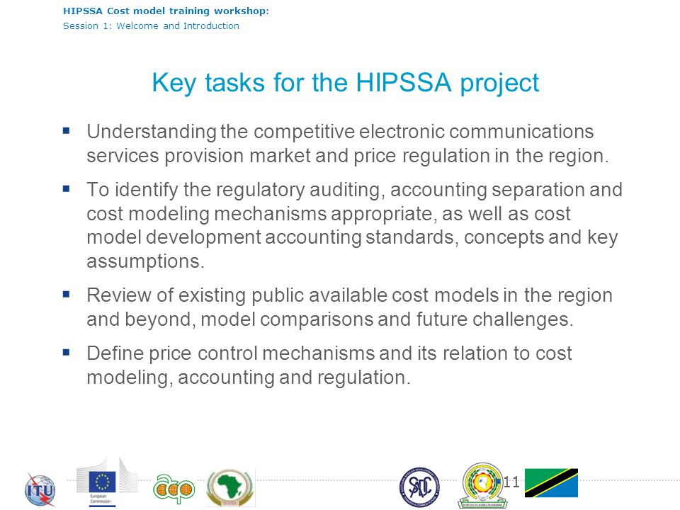 Key tasks for the HIPSSA project