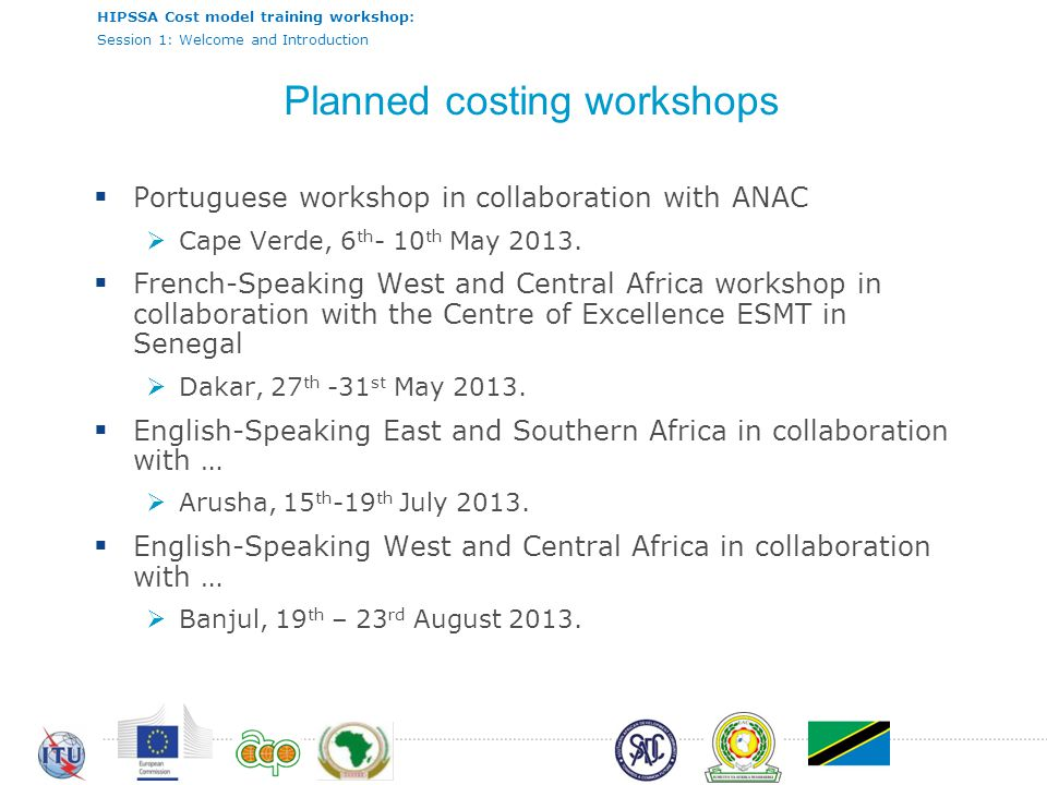 Planned costing workshops