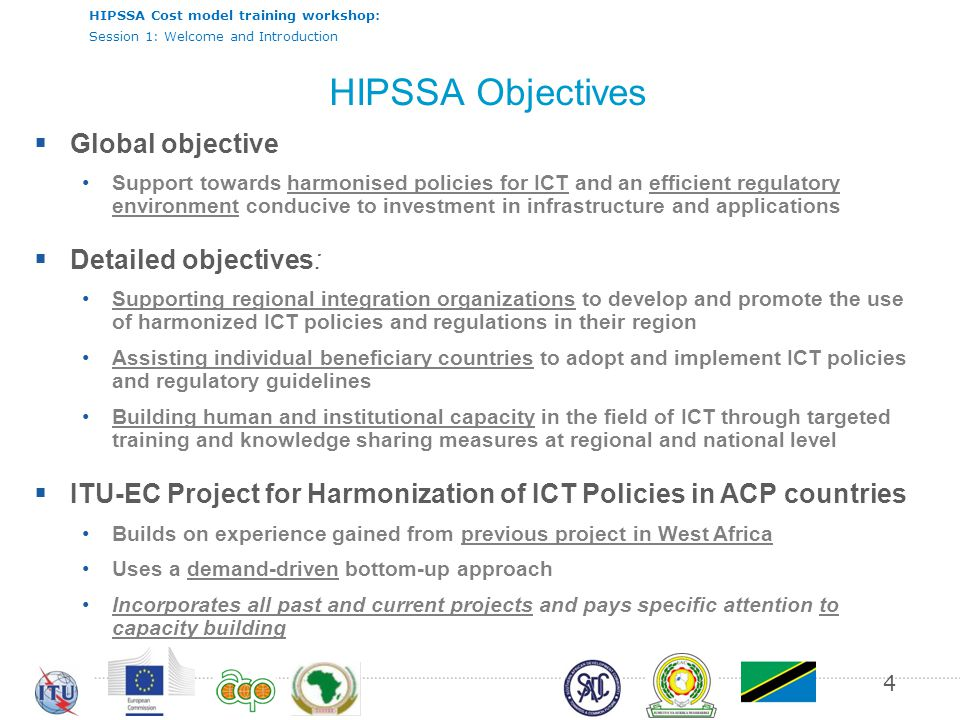 HIPSSA Objectives Global objective Detailed objectives: