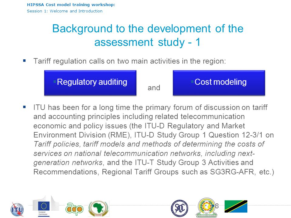 Background to the development of the assessment study - 1