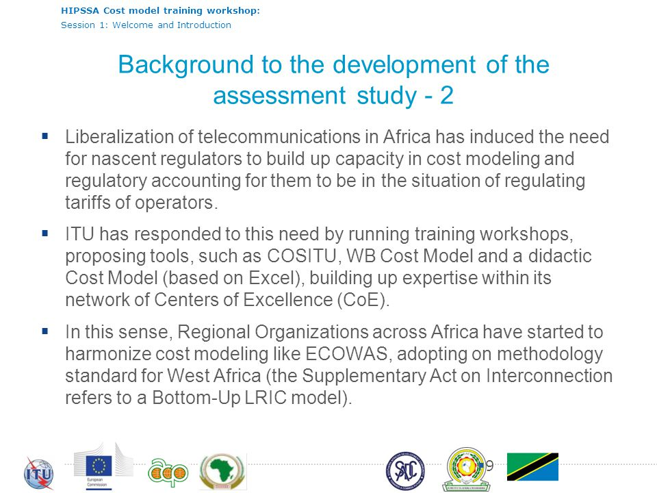 Background to the development of the assessment study - 2