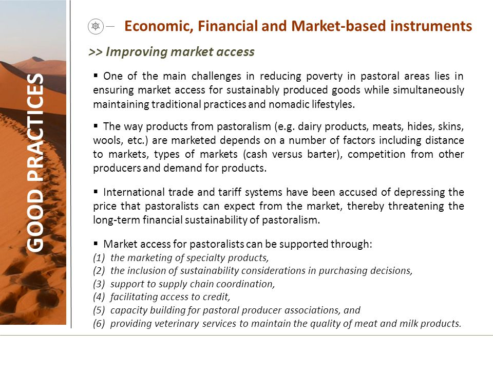 Economic, Financial and Market-based instruments