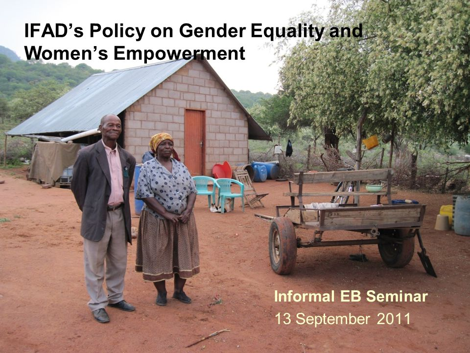 IFAD's Policy on Gender Equality and Women's Empowerment