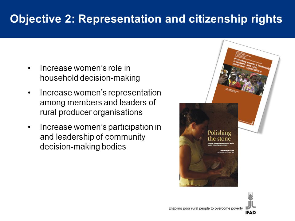 Objective 2: Representation and citizenship rights