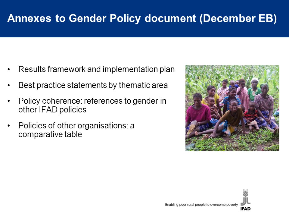 Annexes to Gender Policy document (December EB)