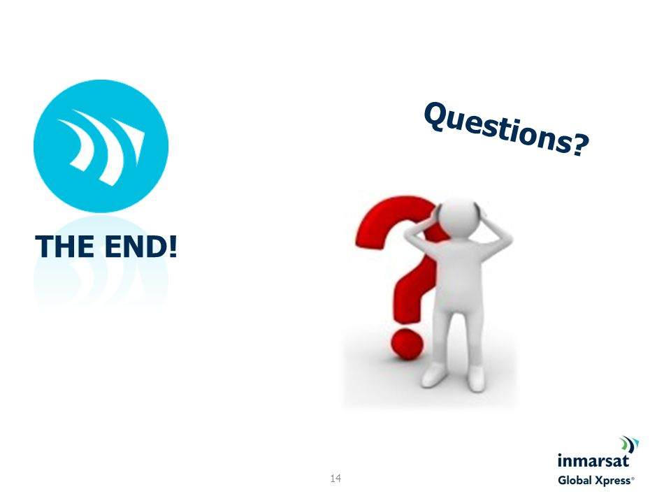 Questions THE END!