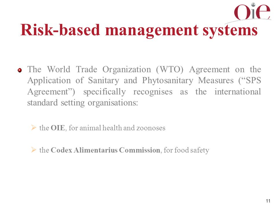 Risk-based management systems